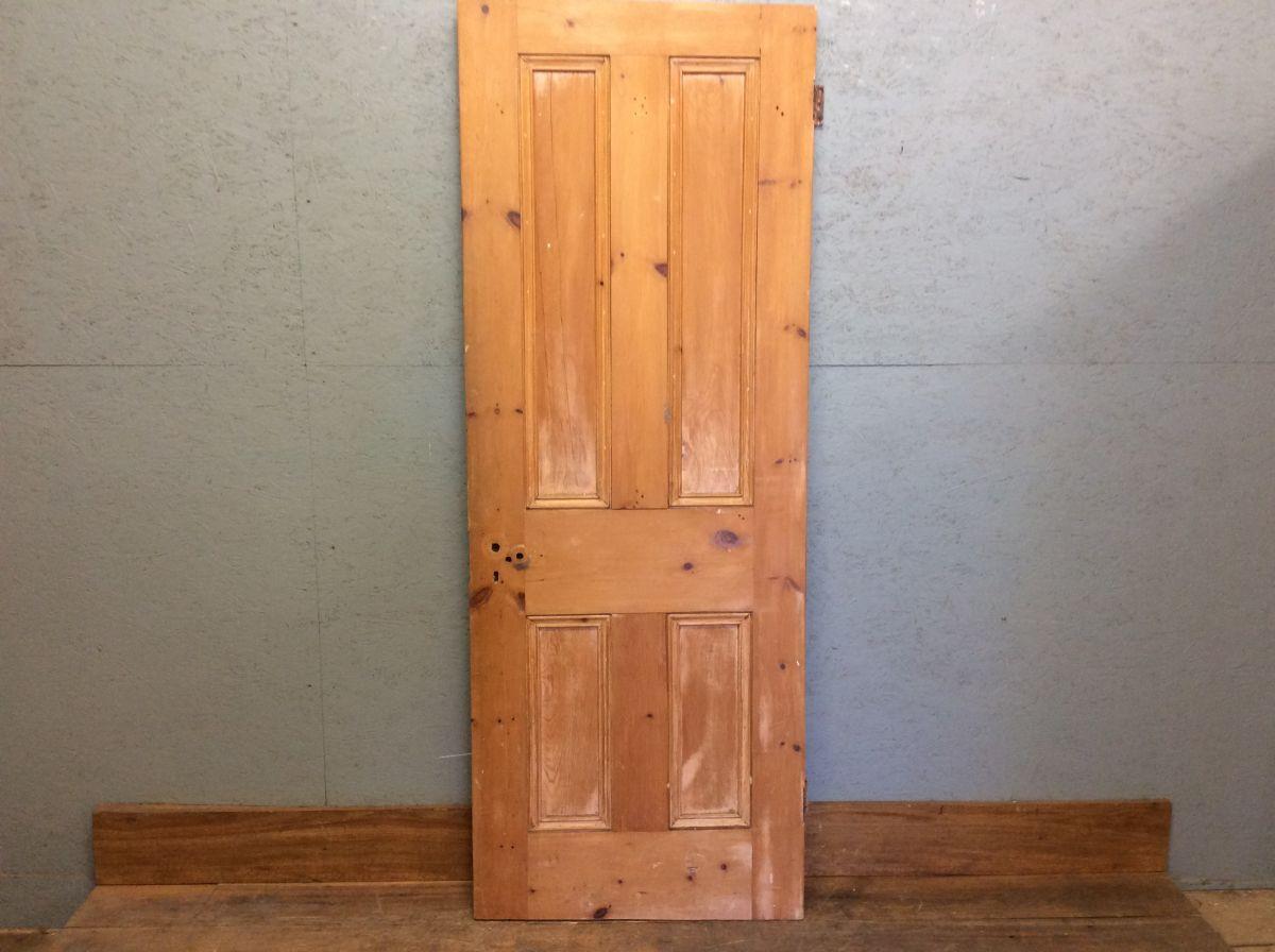Small Dark 4 Panelled Door