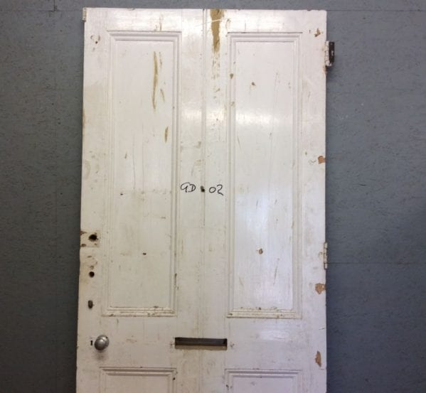 Large White 4 Panelled Front Door