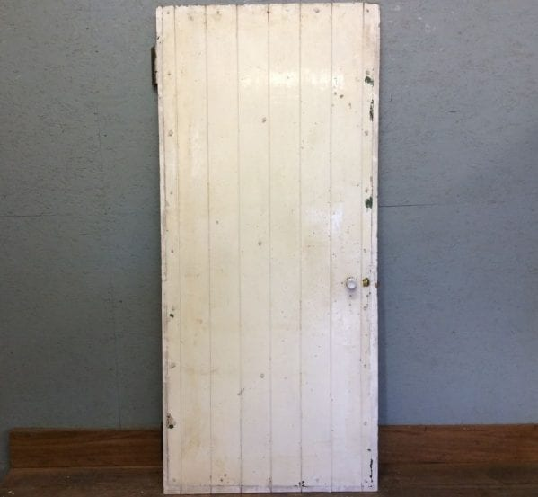 White Rough L & B Door