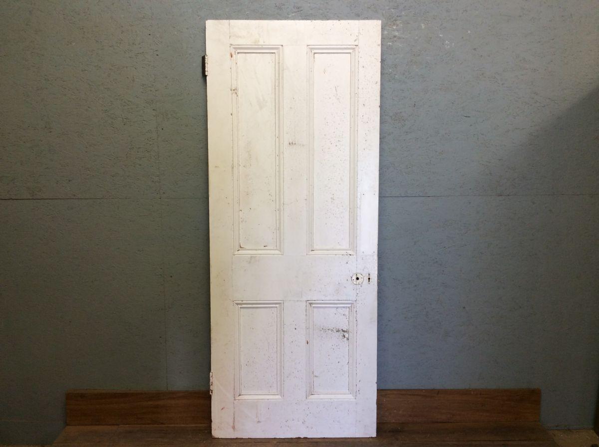 Fully Beaded White Four Panelled Door