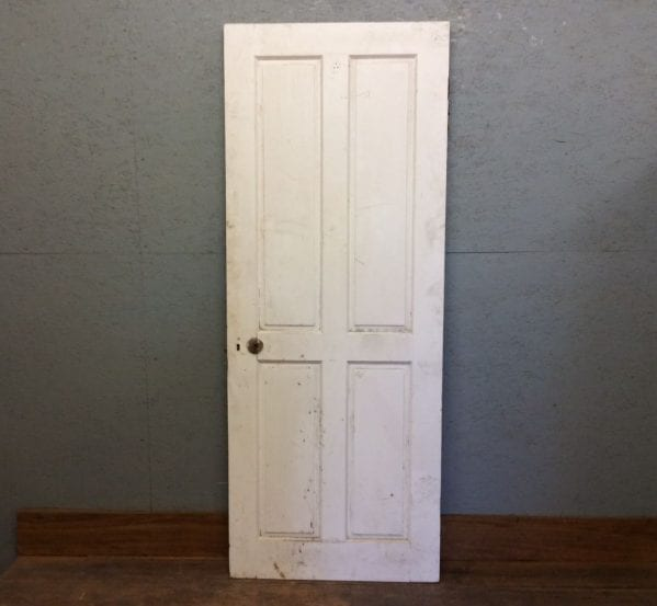 White 4 Panel Door W Key