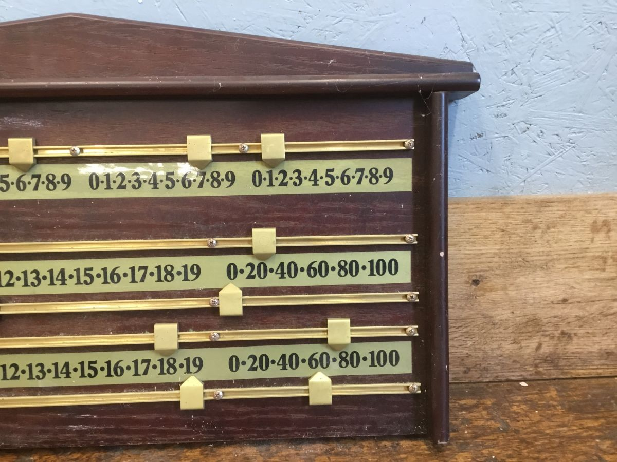 Wooden Snooker Scoreboard