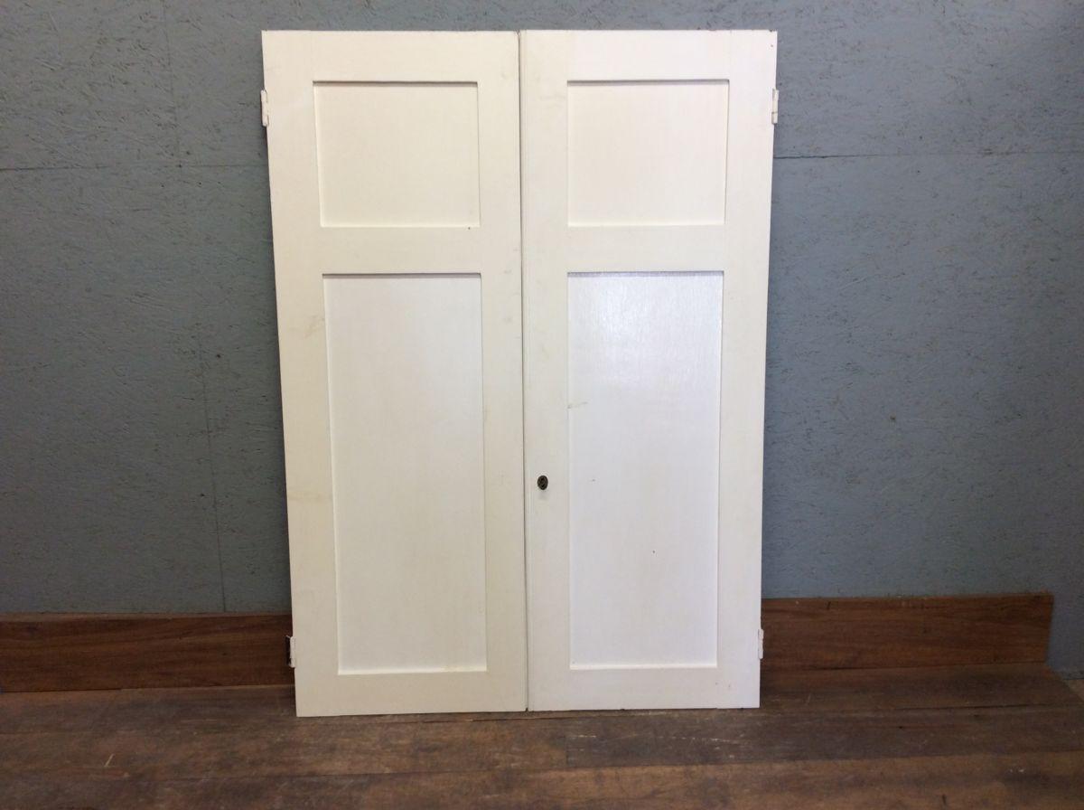 2 Panel White Cupboard Doors