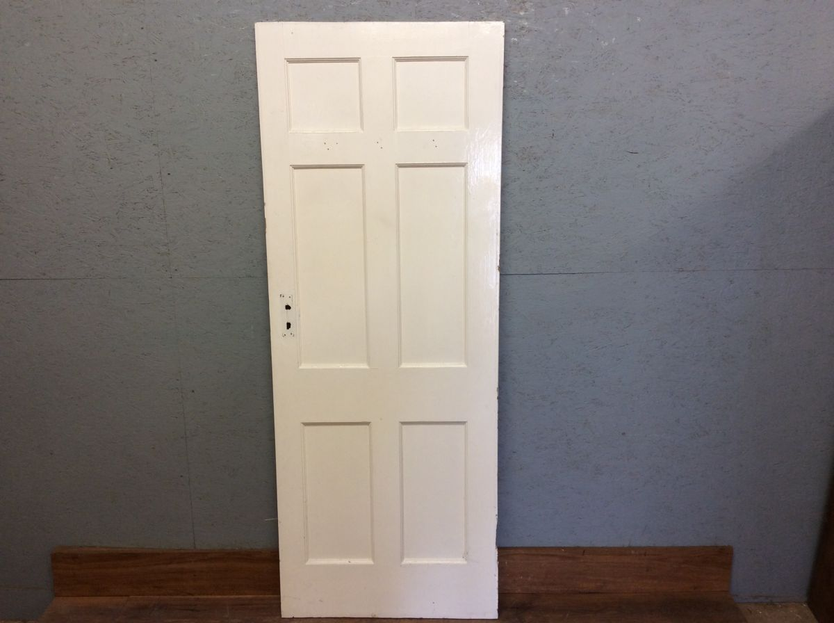 Smooth White 6 Panelled Door