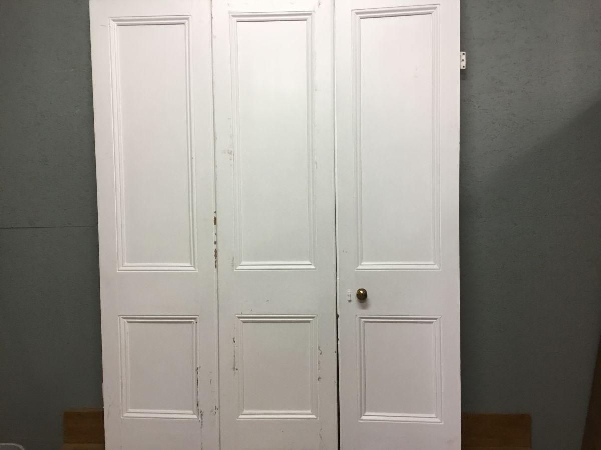 Triple Bi-folding White Doors (2 Panel Per)