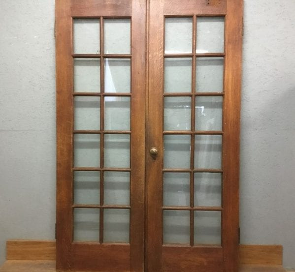 Tall Oak Glazed Double Doors