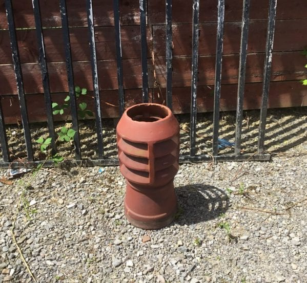 Small Terracotta Louvred Chimney Pot
