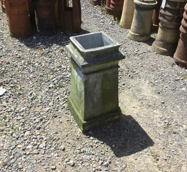 Tall Grey Square Chimney Pot