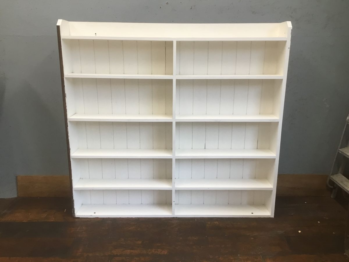 Large White Painted Wooden Shelving Stack