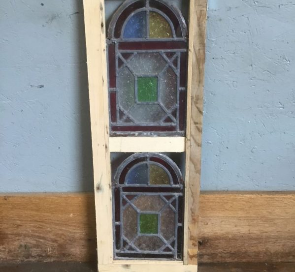 Dome Detail Stained Glass Pair