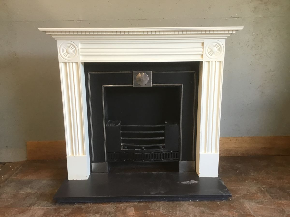 Finest Fire Place. Surround, Insert & Stone Base