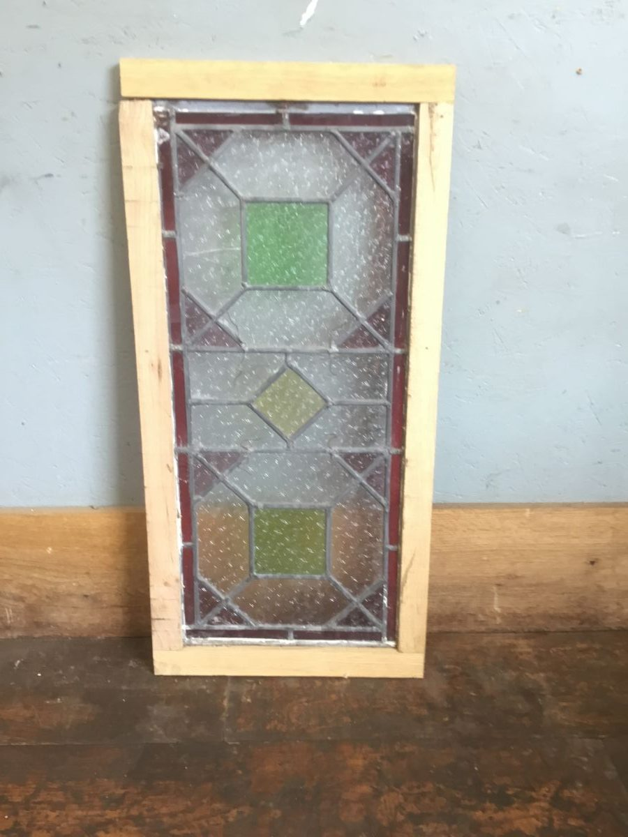 Red & Green Stained Glass Panel