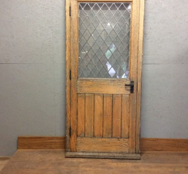 Solid Oak Half Glazed Door + Frame
