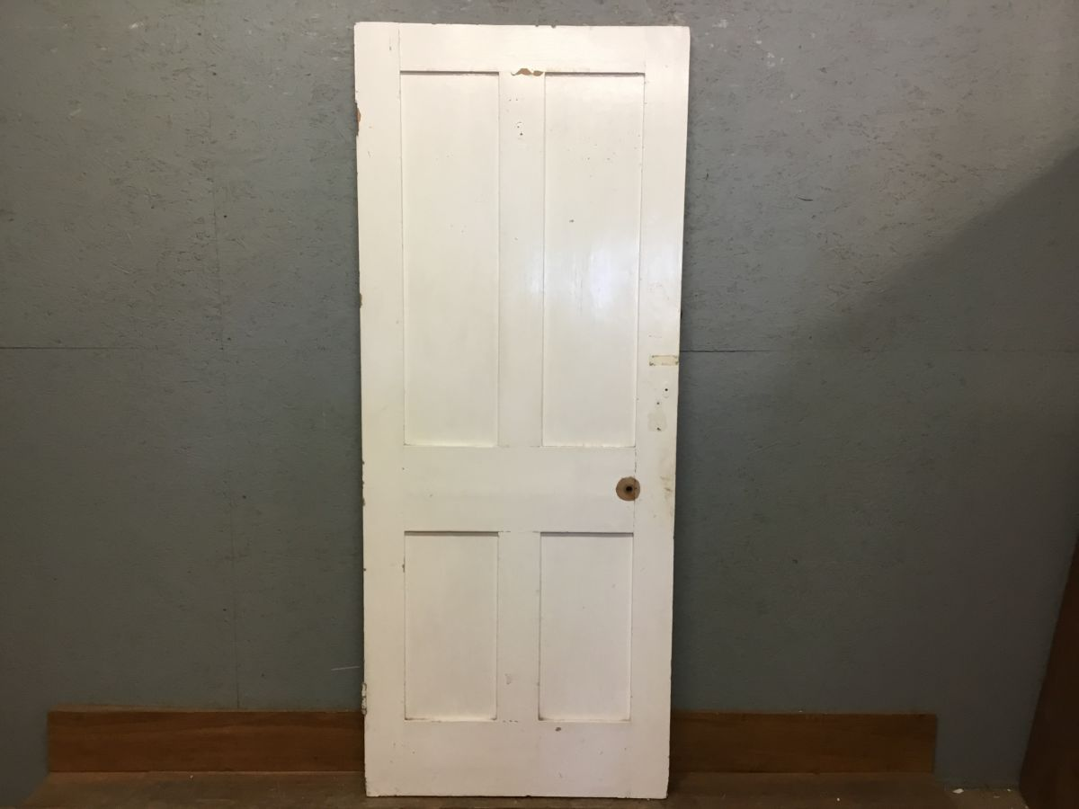 White Painted 4 Panel Door