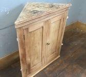 Antique Pine Corner Cupboard