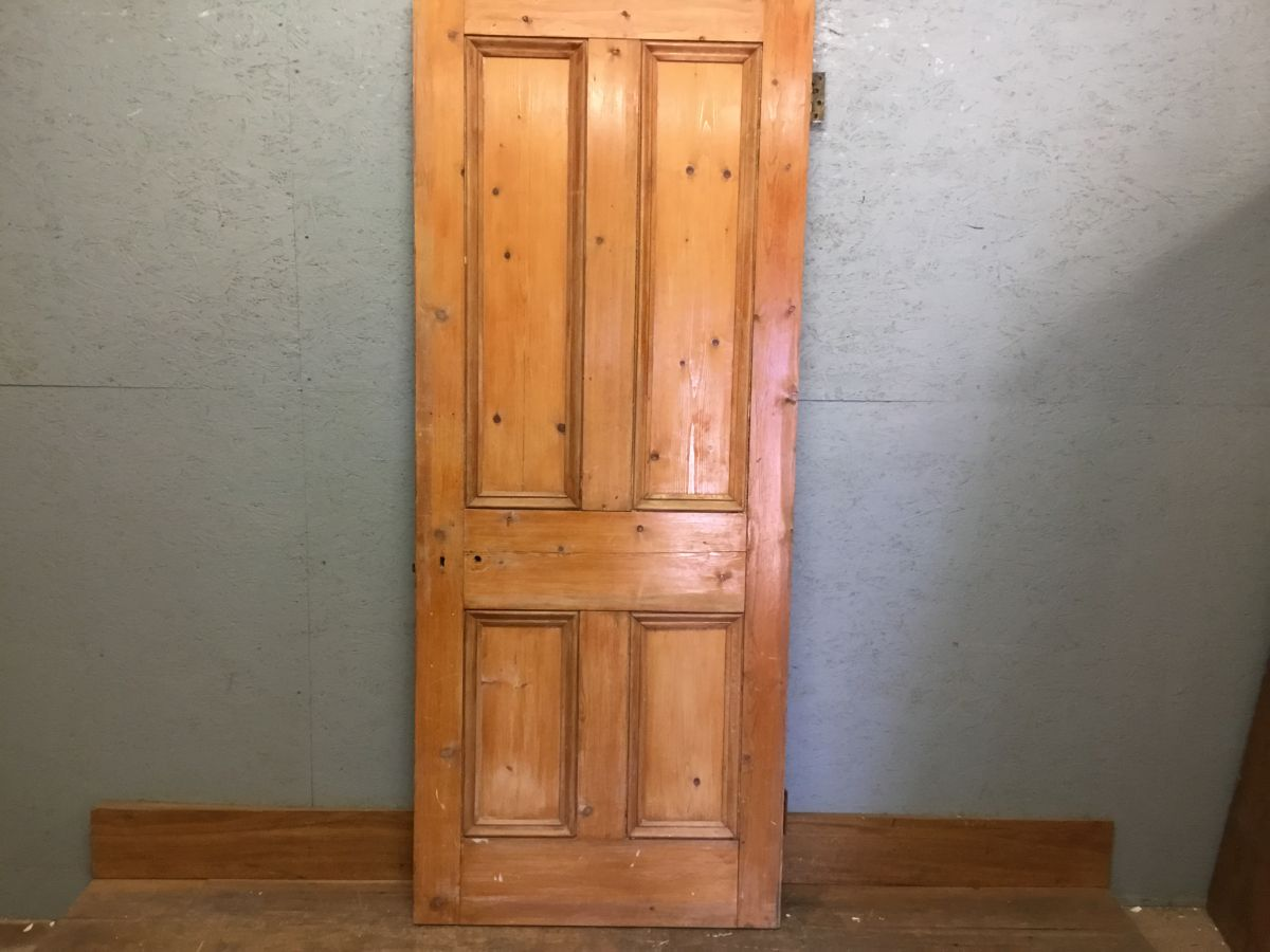 4 Panelled Varnished Door