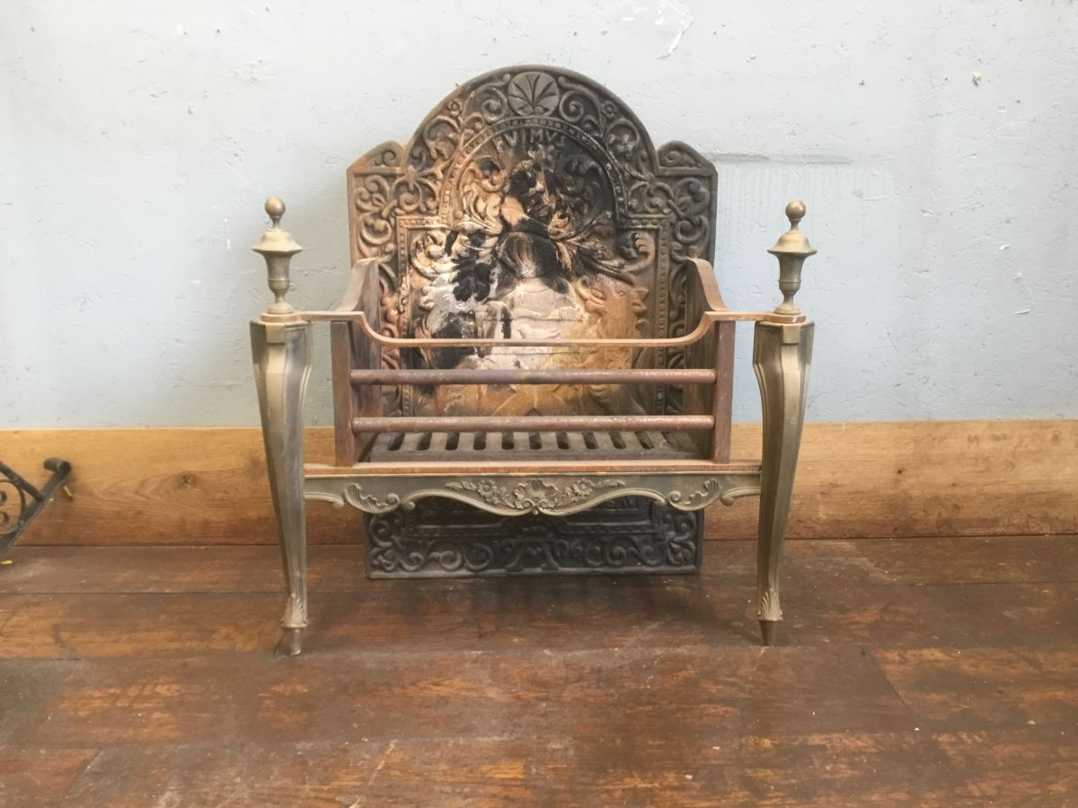 Large Fire Basket & Fire Back