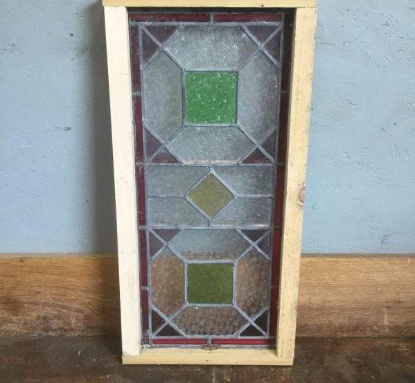 Rectangular Panel Window Green Square Details