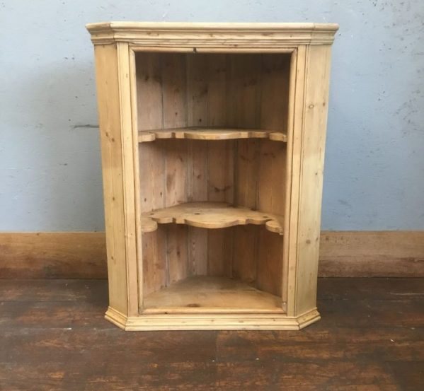 Wall Mounted Corner Pine Shelving