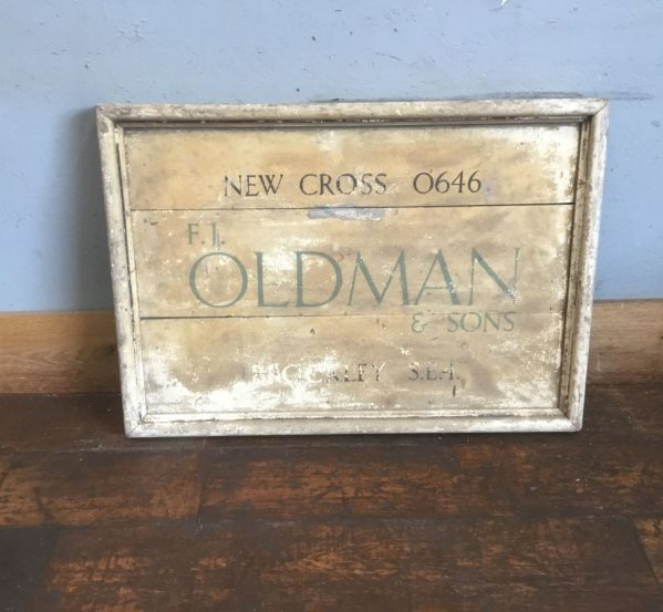 'Oldmans' Wooden Sign