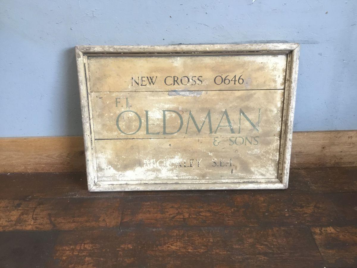'Oldmans' Wooden Sign