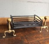 Reclaimed Rounded Fire Dogs And Basket