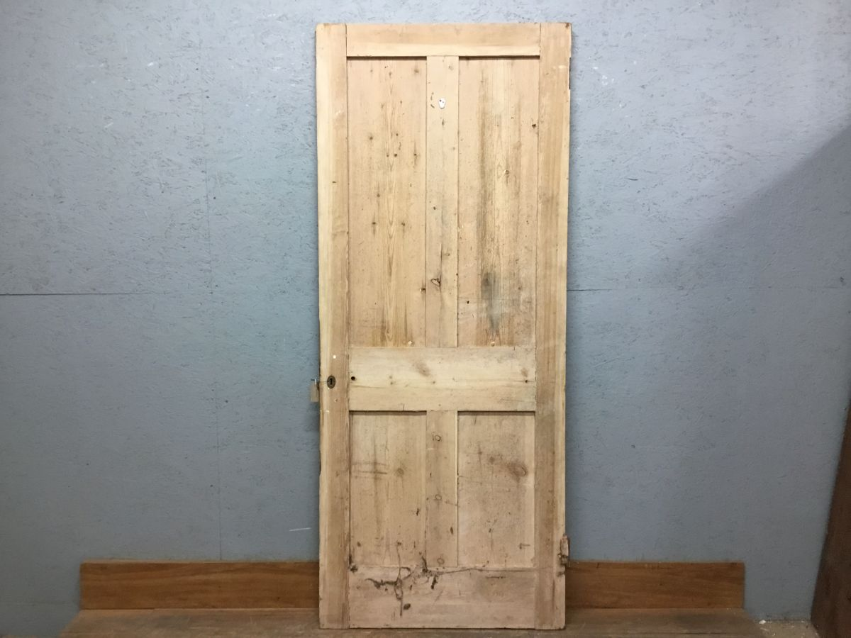 Rough Nice Stripped 4 Panelled Door