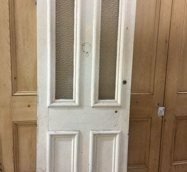 White Half Glazed 4 Panel Door