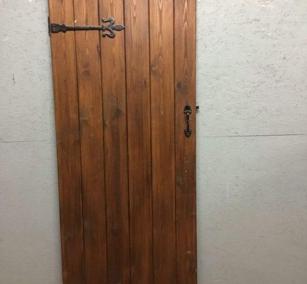 Varnished Brown Ledge & Brace Door