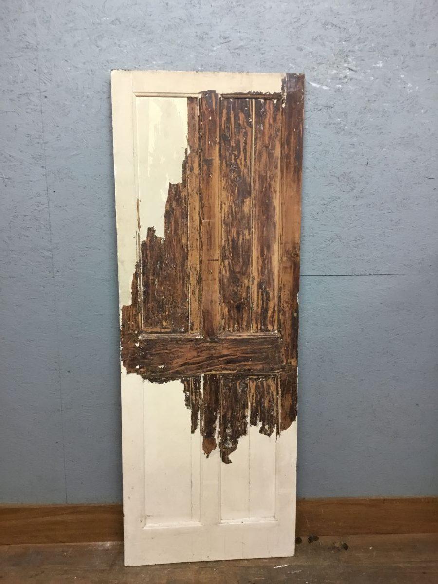 Half Stripped 4 Panel Door