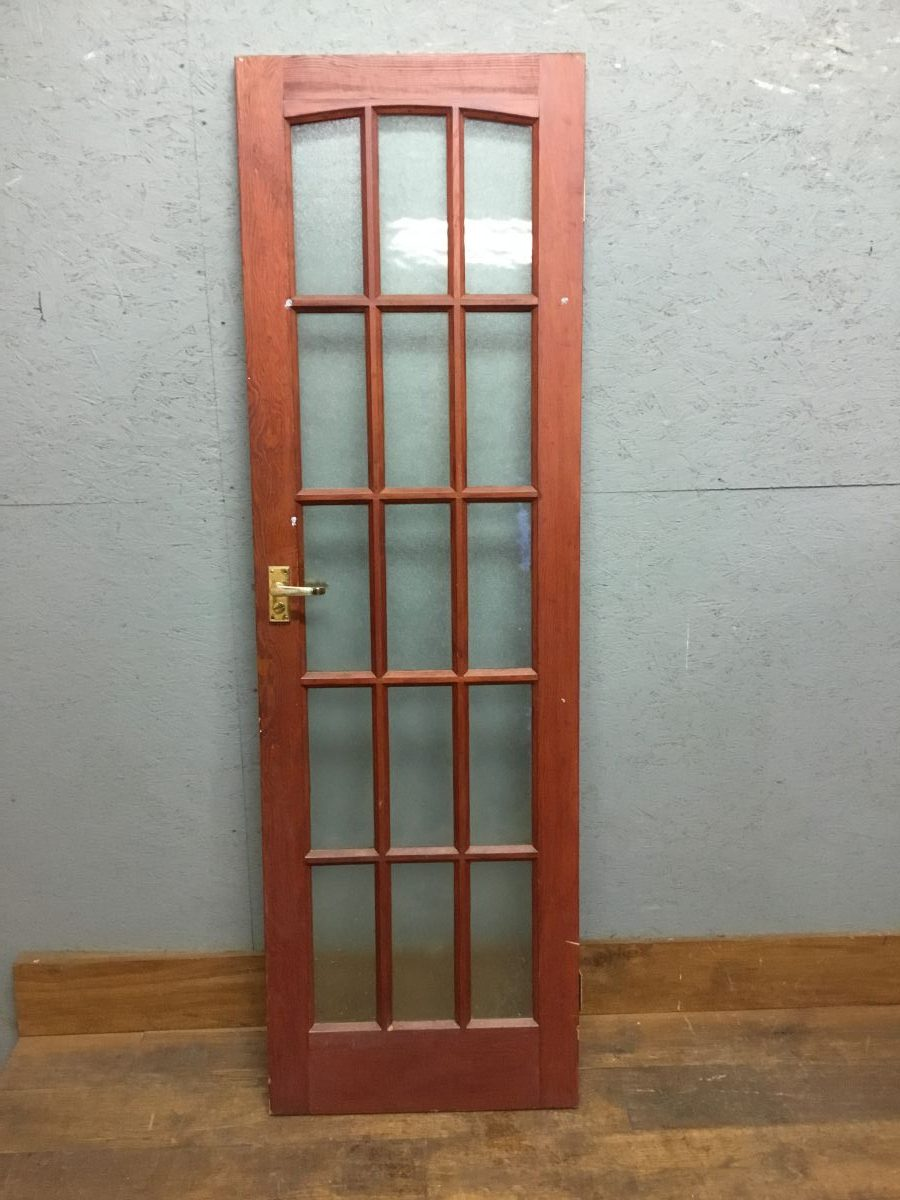 Fully Dark Red Glazed Door