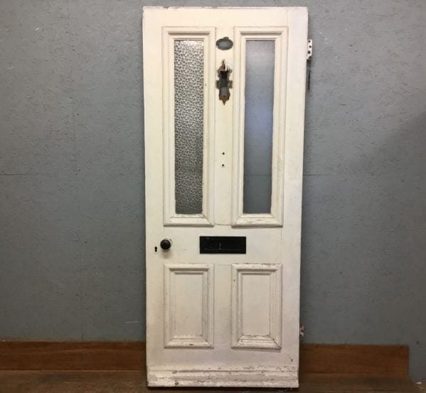 Semi-Glazed White Front Door