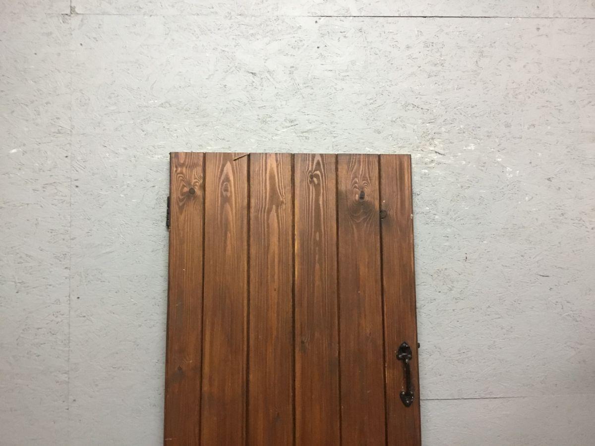 Pine Brown Varnished Ledge & Brace Door