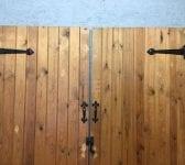 Pine Ledge & Brace Double Doors