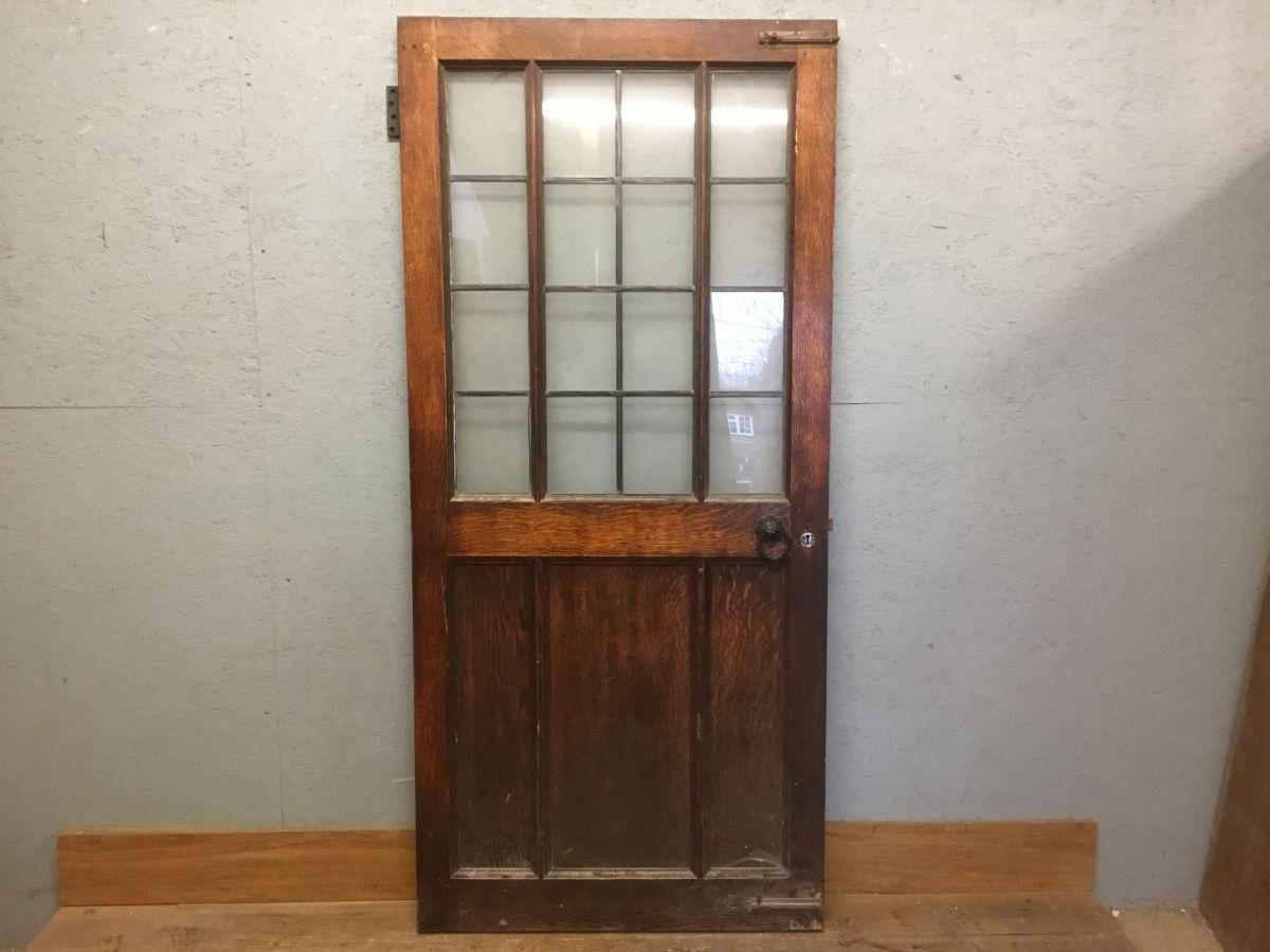 Top Notch Oak Half Glazed Door