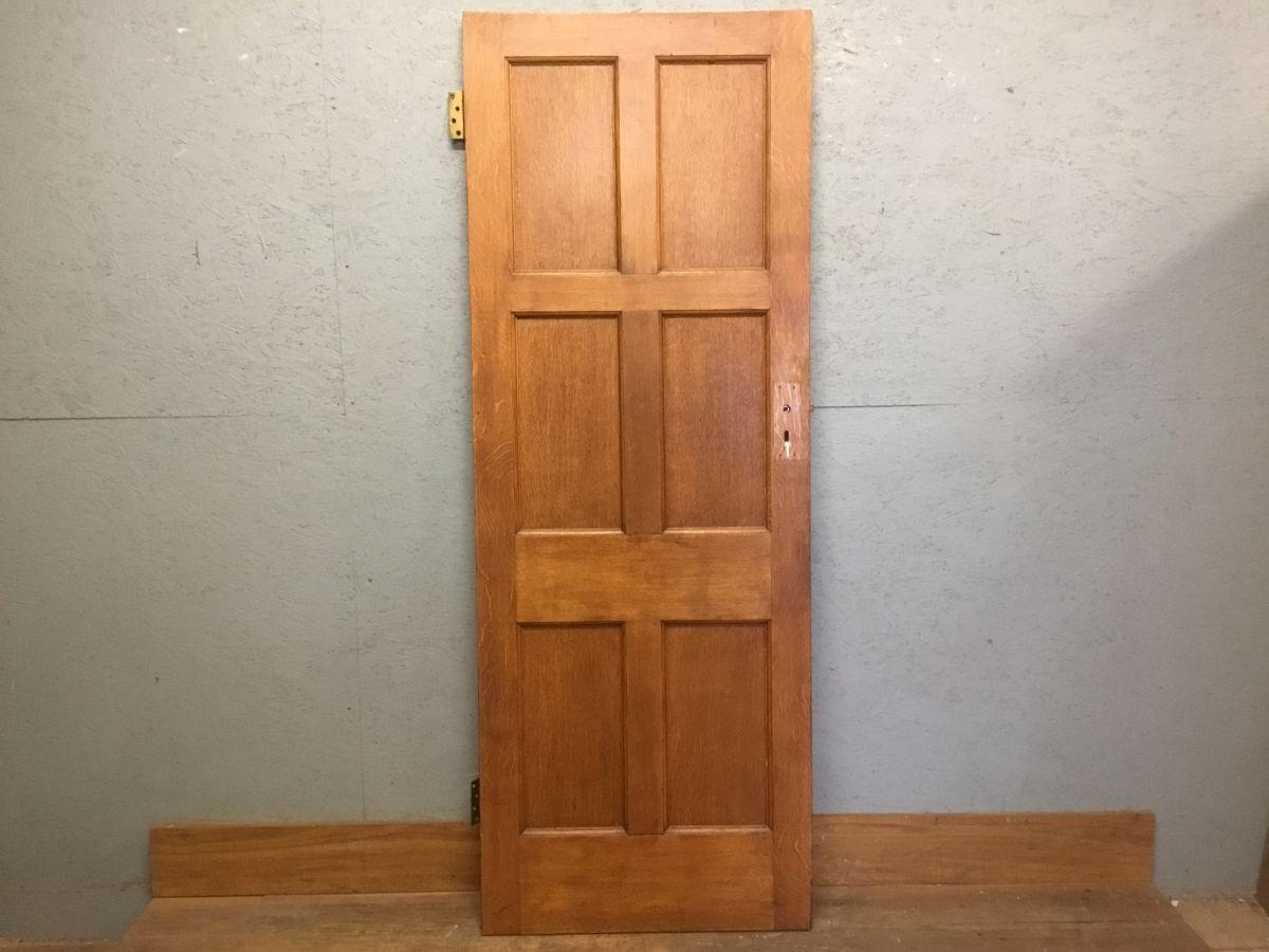 6 Panel Oak Varnish Finish Door