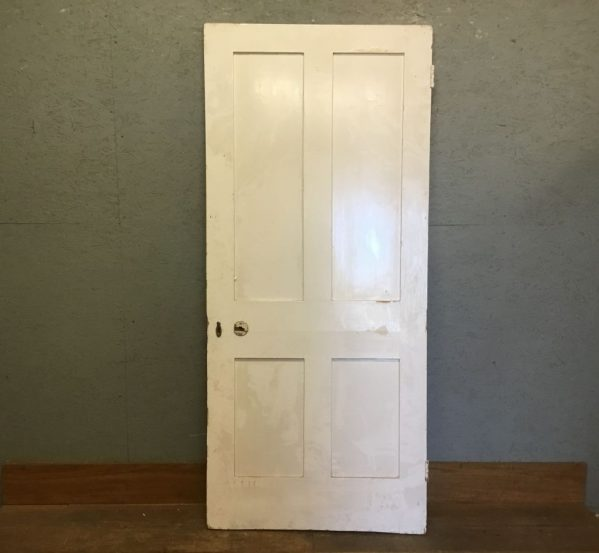 Wide 4 Panelled Door Painted White