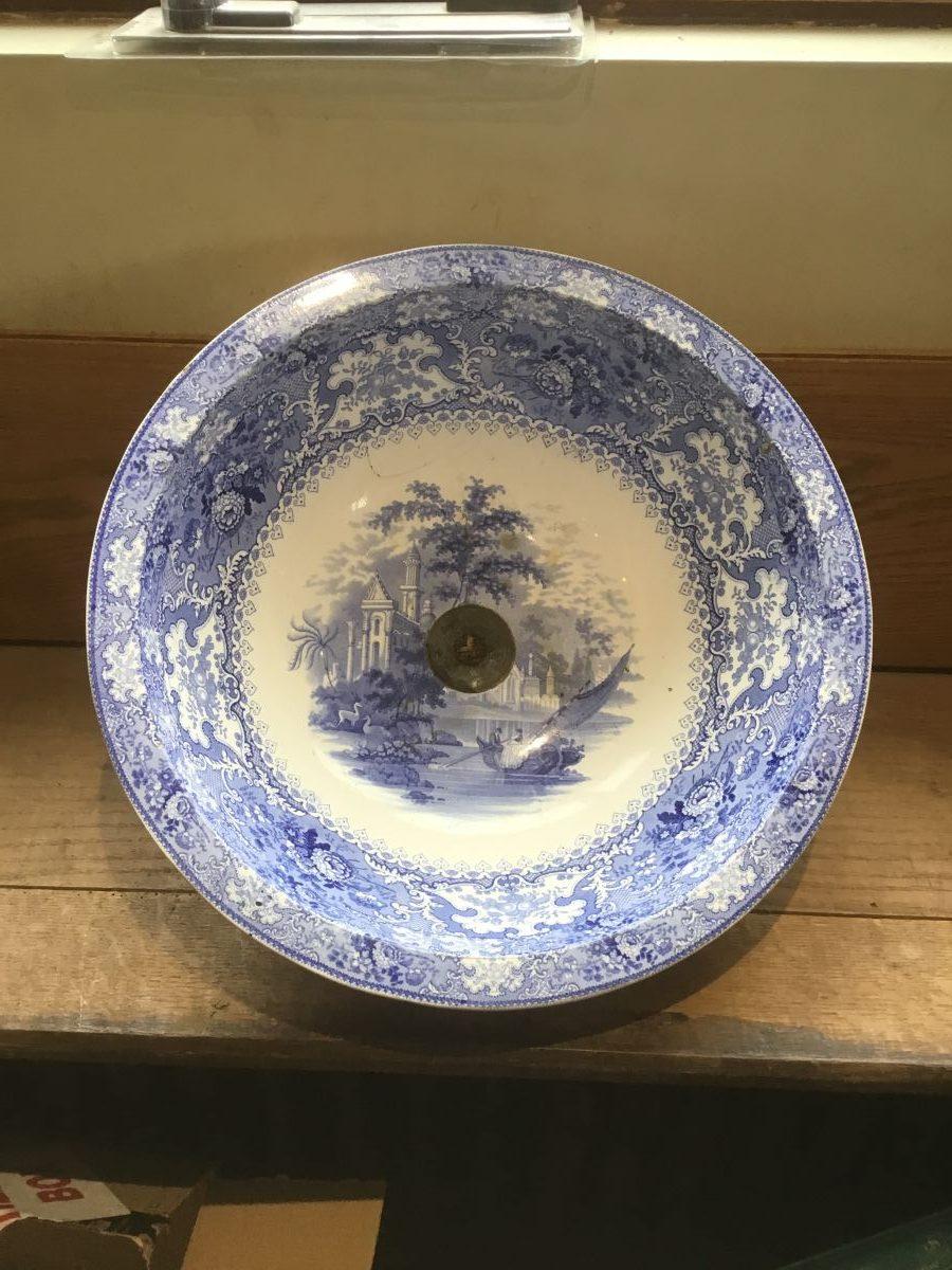 Reclaimed Painted Blue Sink