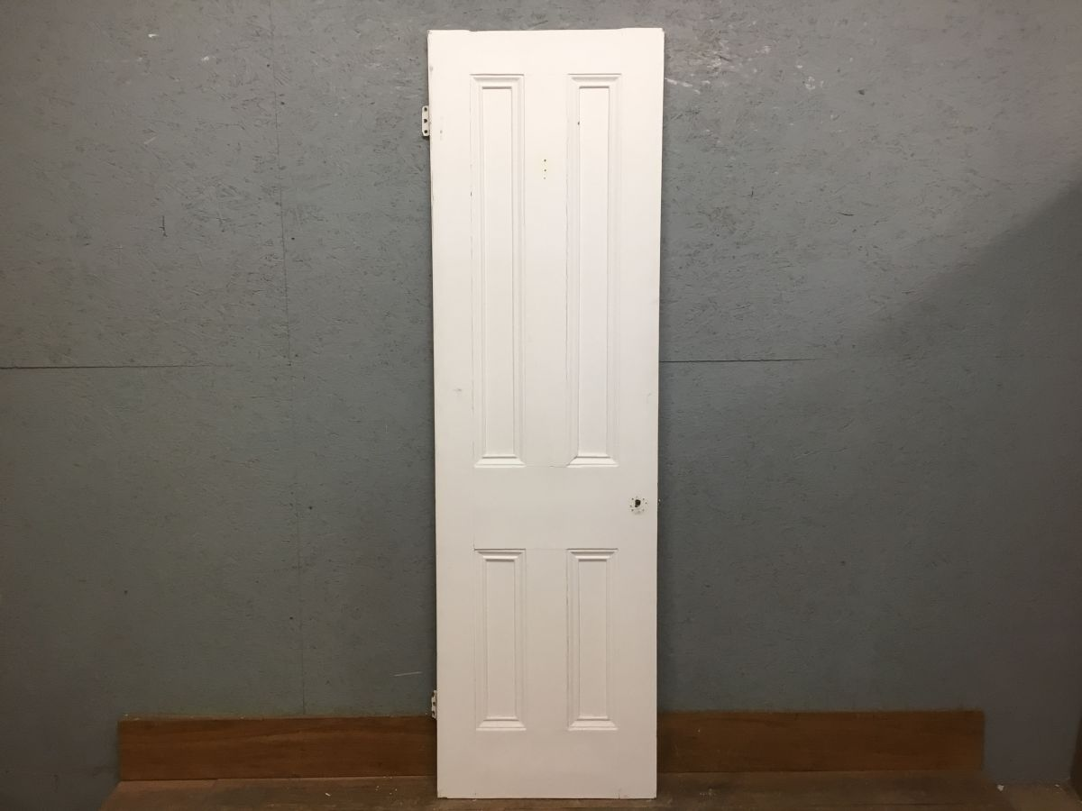 Narrow 4 panelled Door Painted White