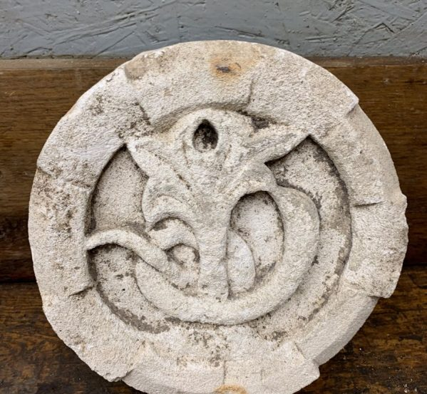 Flower Detail Carved Plaque