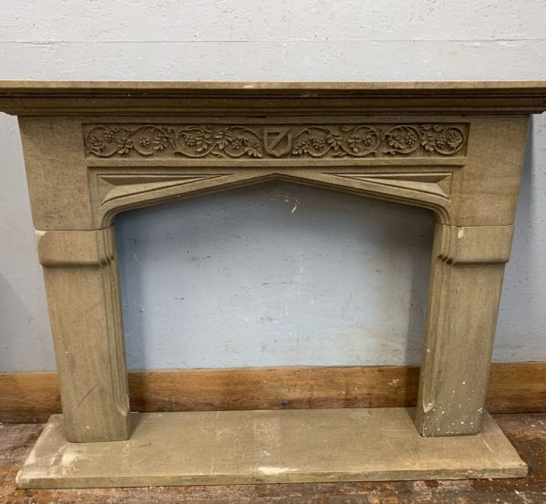 Ornate Carved Stone Fire Surround