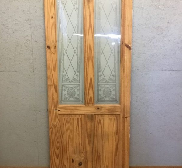 Stripped Half Glazed Door