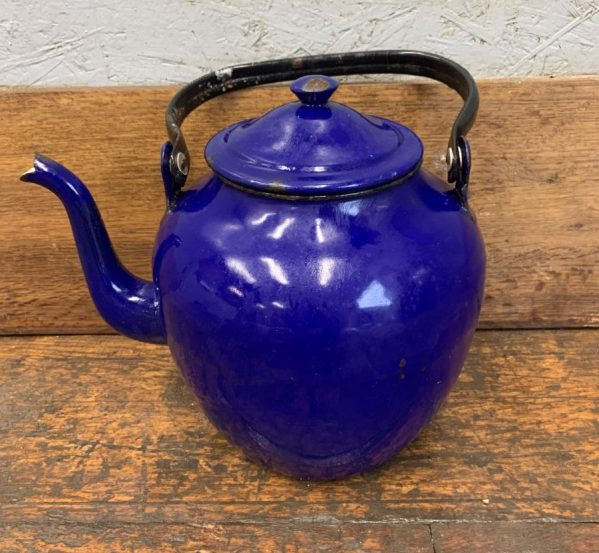 Reclaimed Blue Glazed Kettle