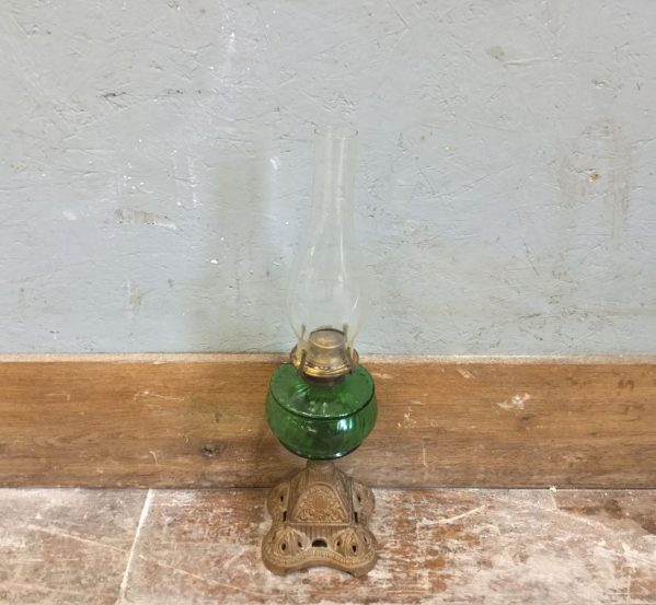 Reclaimed Green Oil Lamp