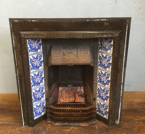 Ornate Fire Insert With Tiles