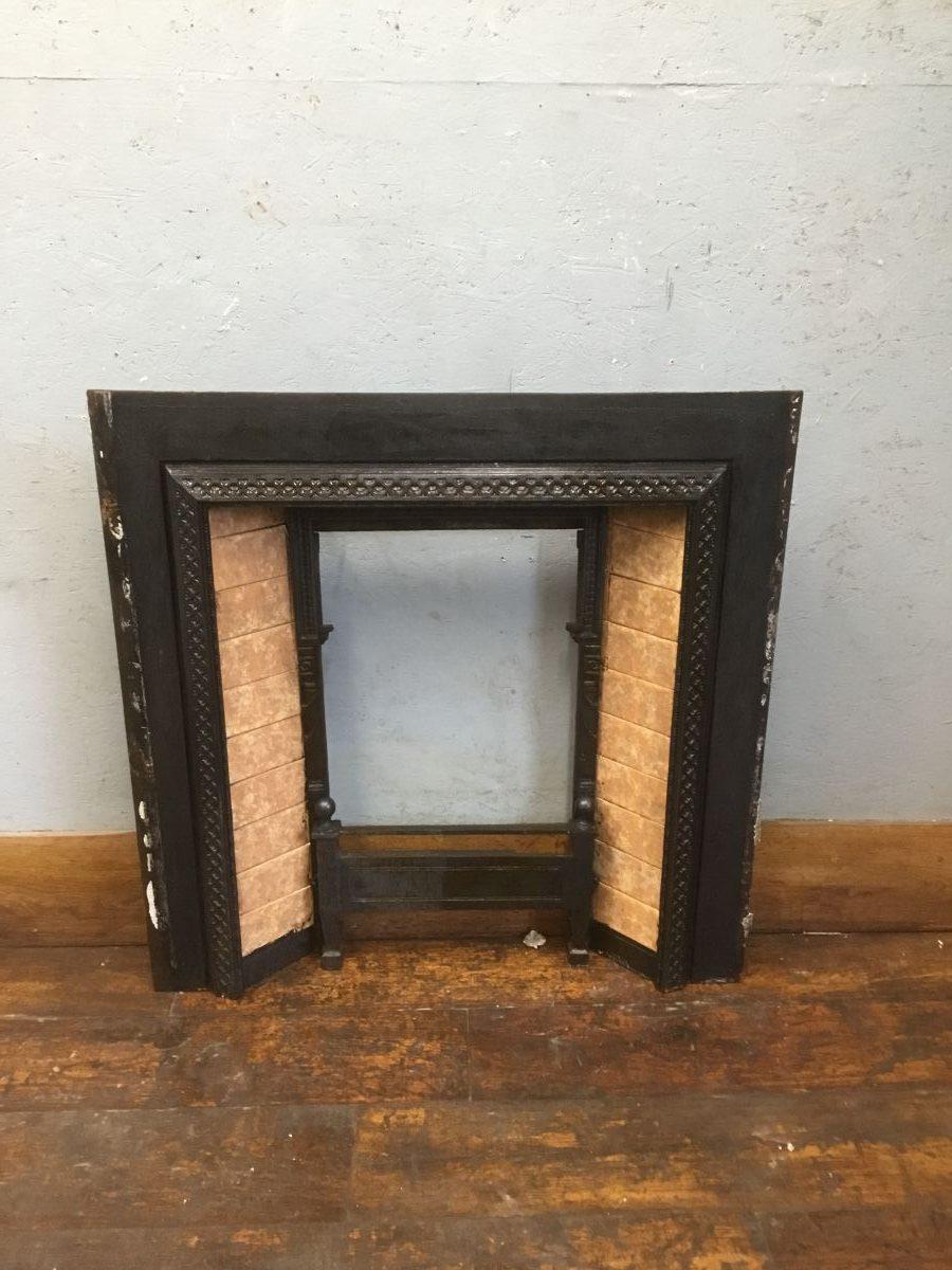 Brown Tiled Fire Insert