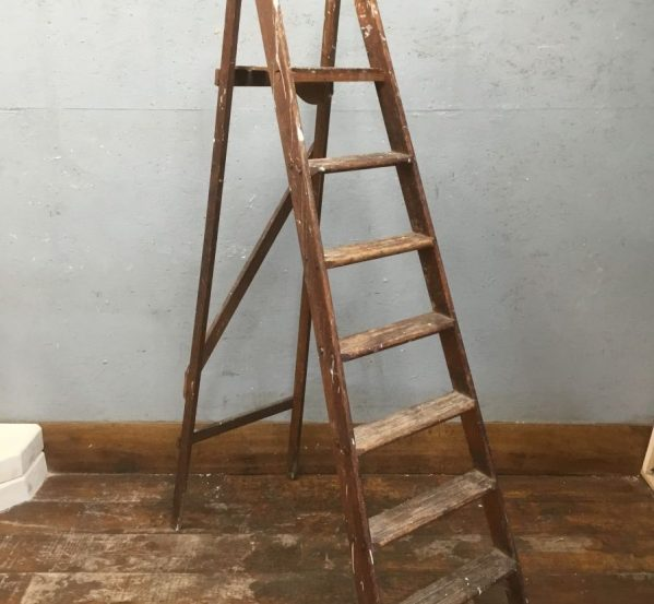 Reclaimed Wooden Step Ladder