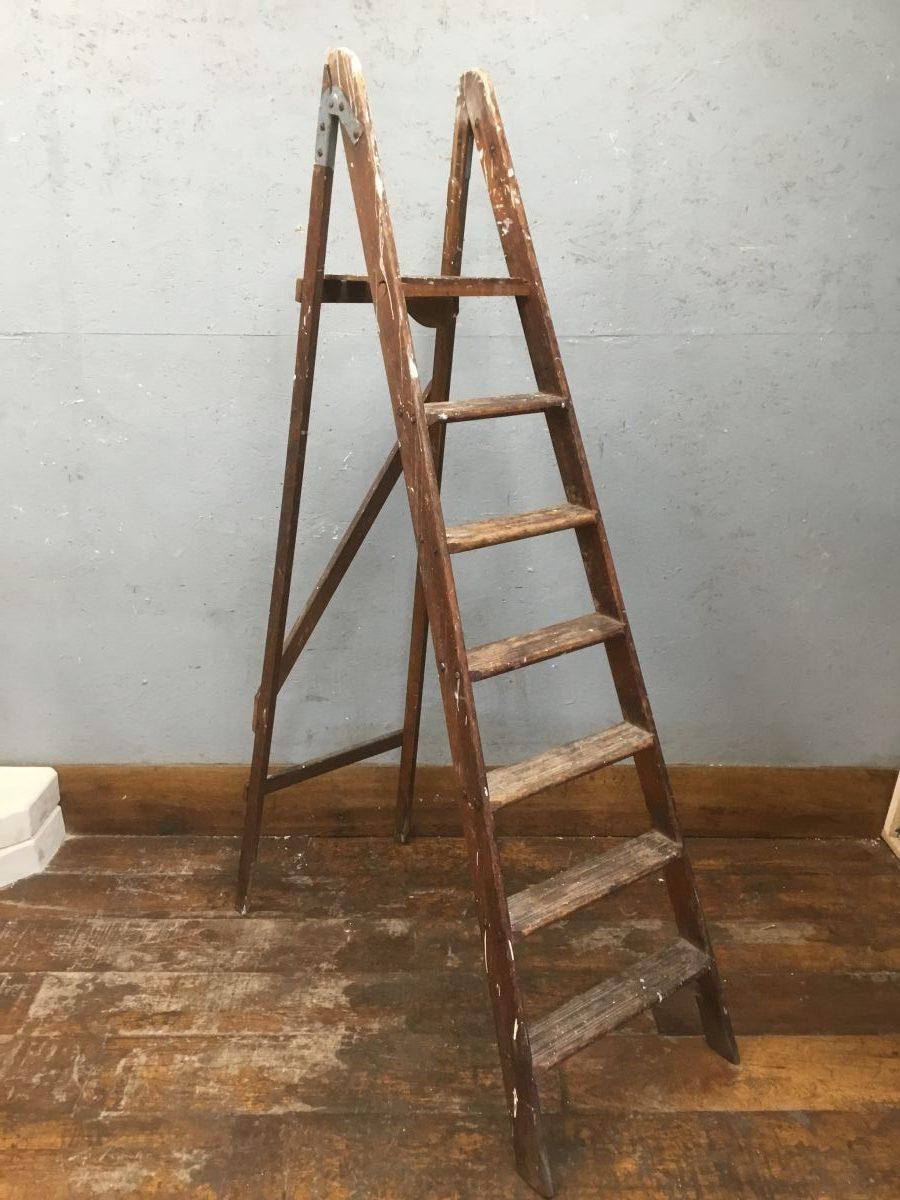 Reclaimed Wooden Step Ladder