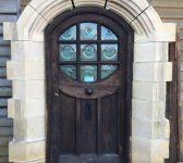 Oak Door With Stone Surround
