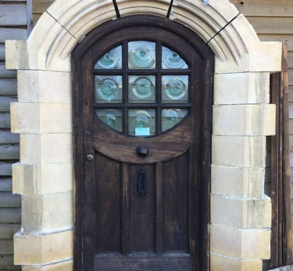 Oak Door With Stone Surround